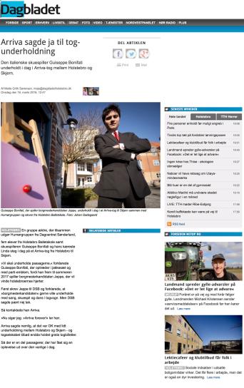 Holstebro Dagbladet, marts 2016