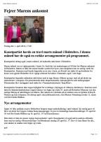 Dagbladet Holstebro, marts 2016