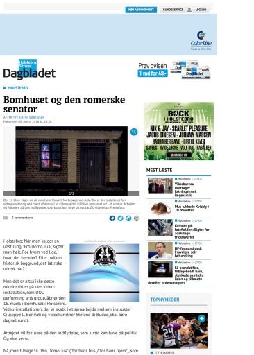 Dagbladet Holstebro, marts
